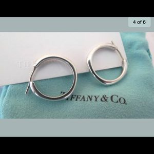 "Tiffany & Co. Sterling Silver 3/4""Hoop Earrings"